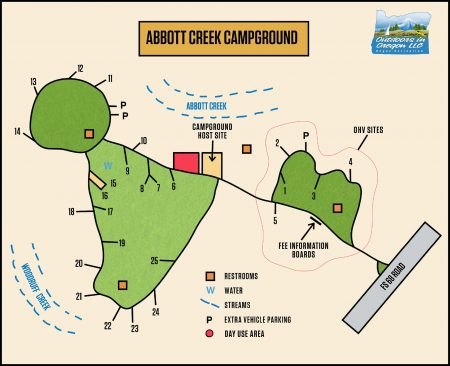 Abbott Creek Campground Map