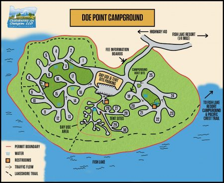 Doe Point Campground Map