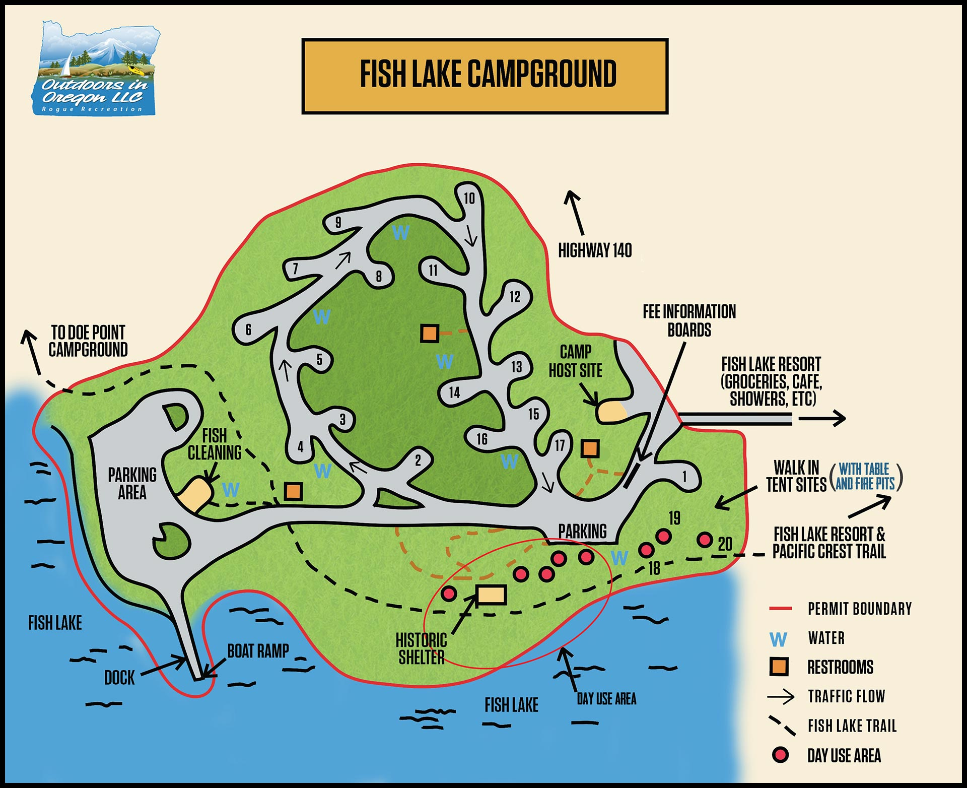 Fish Lake Campground Map
