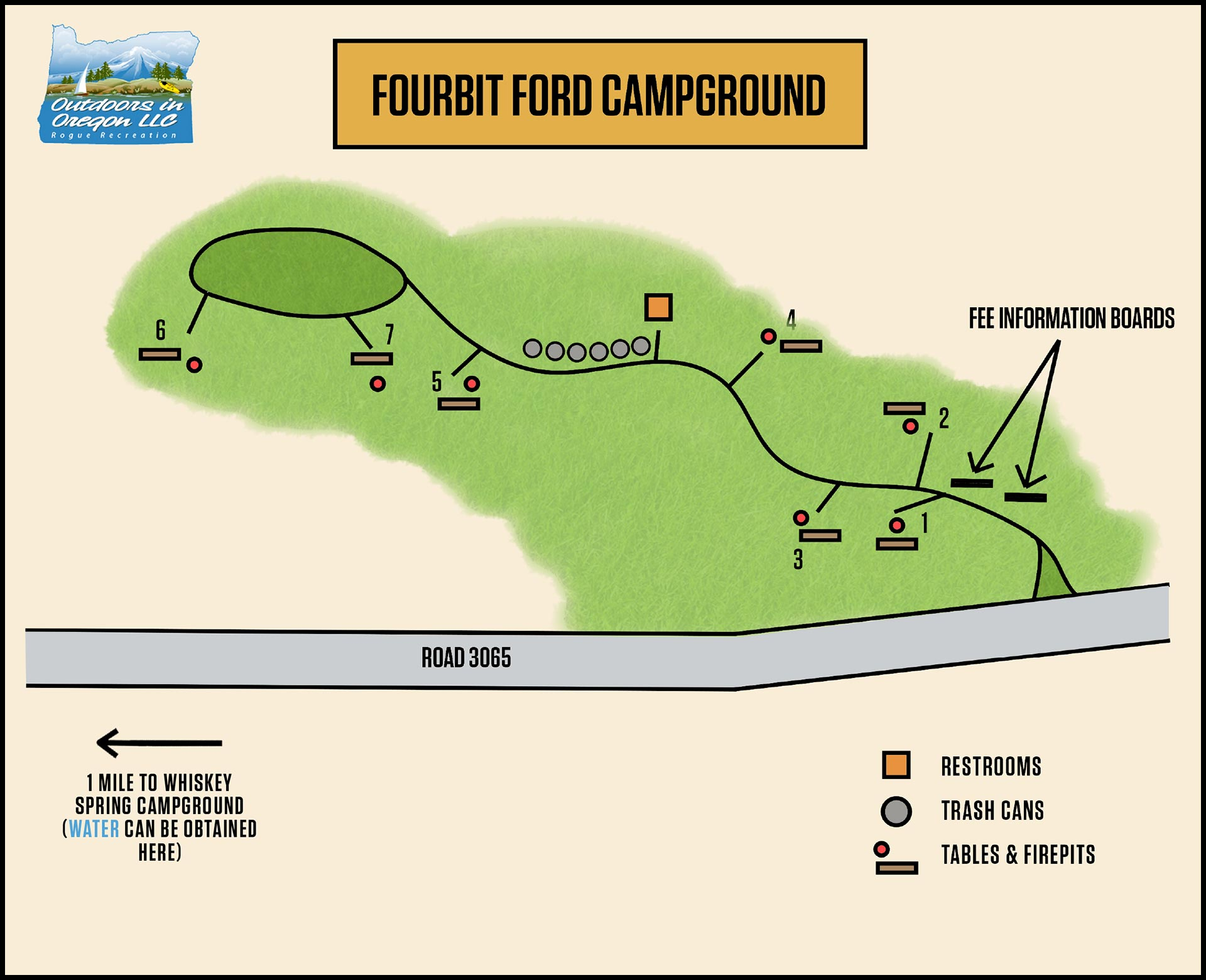 Fourbit Ford Campground Map