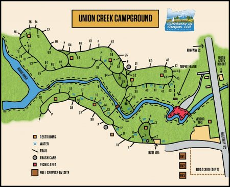 Union Creek Campground Map