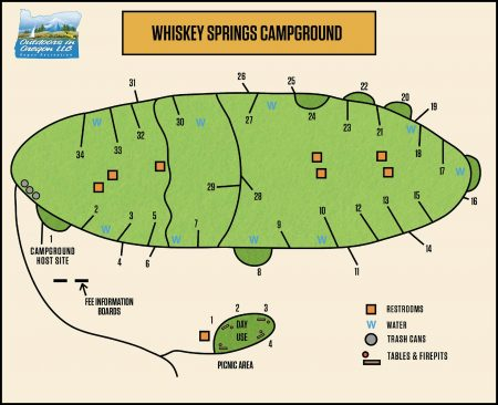 Whiskey Springs Campground Map